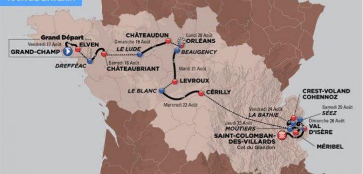Tour de l'Avenir 2018 telt vier aankomsten bergop en een ploegentijdrit