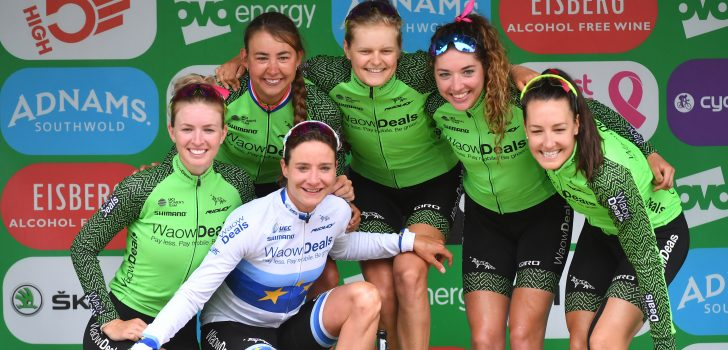 Jeanne Korevaar houdt sprintende meute af in Lotto Belgium Tour