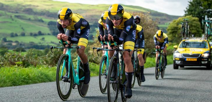 LottoNL-Jumbo superieur in ploegentijdrit Tour of Britain, Roglic nieuwe leider