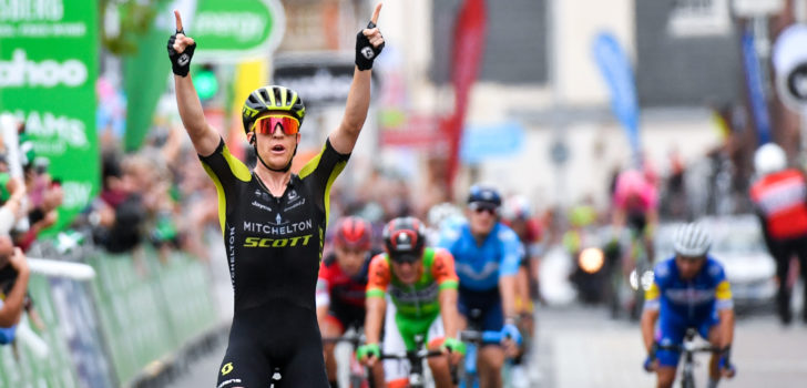 Meyer beste vluchter in Tour of Britain, Tonelli grijpt leiderstrui