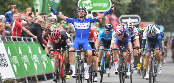 Julian Alaphilippe sprint naar zege in Tour of Britain, Bevin nieuwe leider