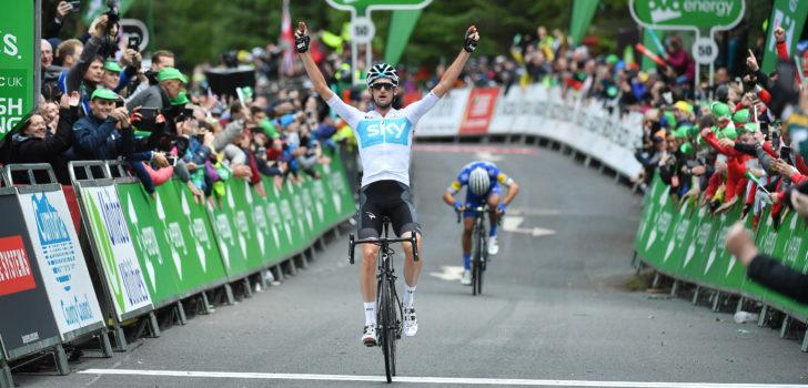Wout Poels zegeviert in koninginnenrit Tour of Britain
