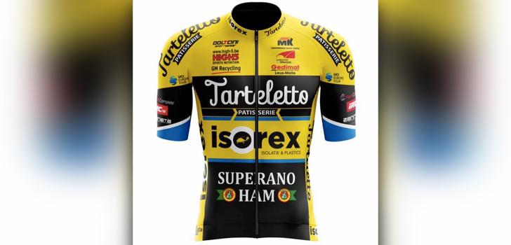 Wielertenues 2019: Opnieuw opvallende shirts voor Tarteletto-Isorex