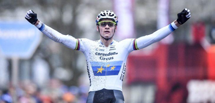 Mathieu van der Poel leidt van start tot finish in Brussel