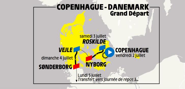 Tour de France begint in 2021 met tijdrit in Kopenhagen