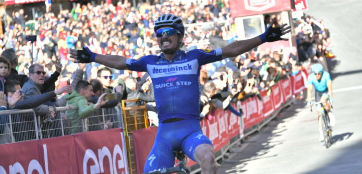 Julian Alaphilippe wint Strade Bianche