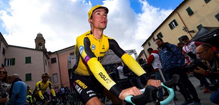 Primož Roglič kent goede dag in Tirreno-Adriatico