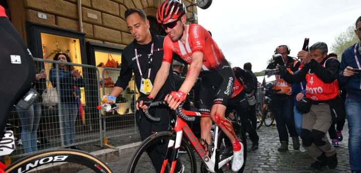 Giro 2019: Gehavende Dumoulin verliest minuten