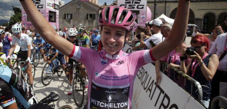 Annemiek van Vleuten wint Giro Rosa, Lotte Kopecky derde in slotrit