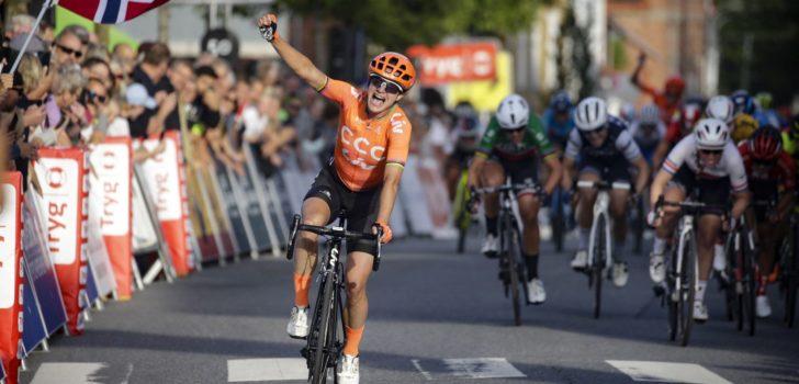 Marianne Vos blijft peloton nipt voor in Tour of Norway