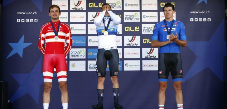 EK wielrennen 2019: Evenepoel eert Lambrecht met Europese tijdrittitel