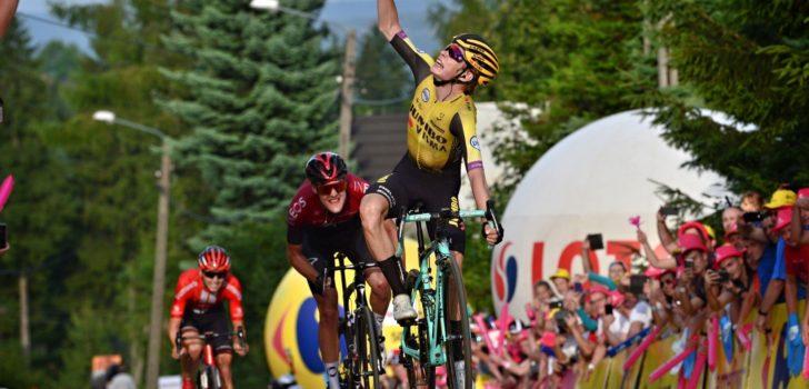 Jonas Vingegaard verrast met eerste profzege in Ronde van Polen
