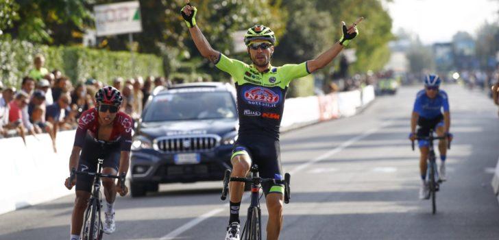 Giovanni Visconti blijft Egan Bernal voor in Giro della Toscana