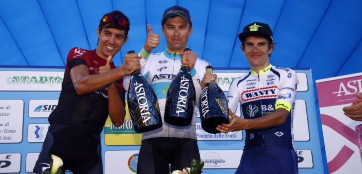 Alexey Lutsenko wint Memorial Marco Pantani vanuit geslagen positie