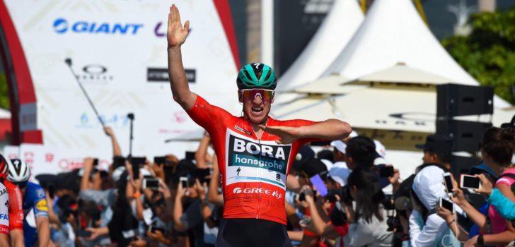 """Pascal Ackermann: """"Mijn finish lag op de top van Qingxiu Mountain"""""""