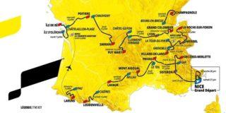 Tour de France 2020: Het complete parcours