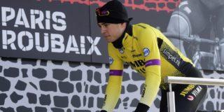 Wout van Aert mee op verkenning Parijs-Roubaix