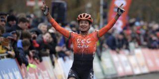 Marianne Vos mag meteen juichen in haar eerste veldrit van het seizoen
