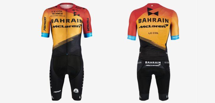 Wielertenues 2020: Bahrain McLaren kiest voor rood, oranje en zwart