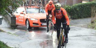 Toppers verkennen Omloop Het Nieuwsblad ondanks barre weersomstandigheden