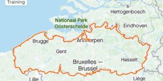 Ultrafietser Maxim Pirard rijdt 1001 (!) kilometer om Vlaanderen